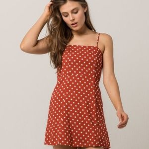 Sky and Sparrow Polka Dot Structured Dress